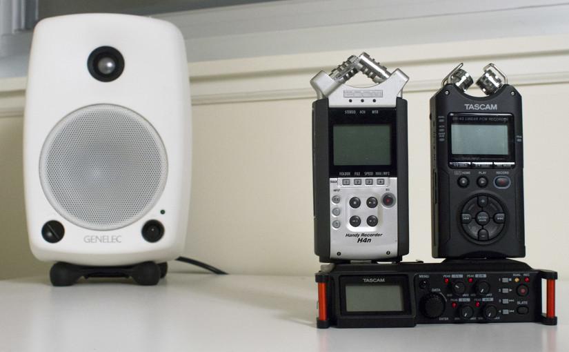 Audio Test: Tascam DR-70D vs. Zoom H4n vs. Tascam DR-40